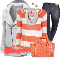Vans Shoes With Striped Top Casual Outfit Outfitspedia