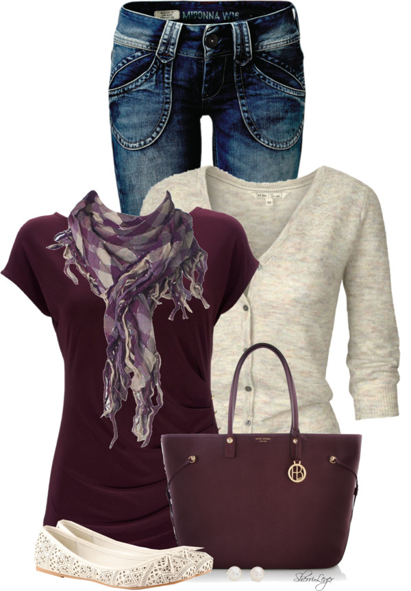 burgundy casual fall outfit outfitspedia