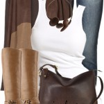 Casual Fall Outfit With Brown Cape Cardigan