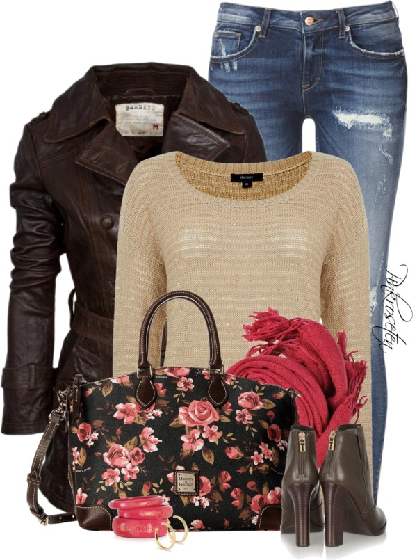 casual fall outfit with floral handbag outfitspedia