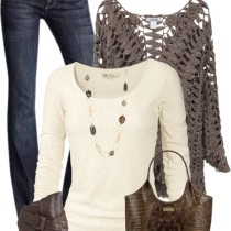 crochet knit sweater fall outfit outfitspedia