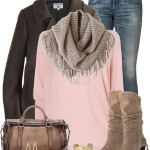 Cute Fall Outfit With Pink Jumper