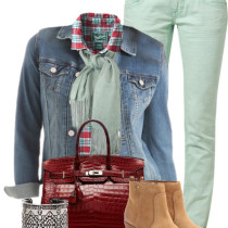 cute n' casual spring outfit with mint jeans outfitspedia