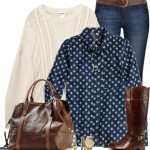Fall Outfit Idea With Riding Boots