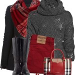 Peacoat and Plaid Scarf Fall Outfit