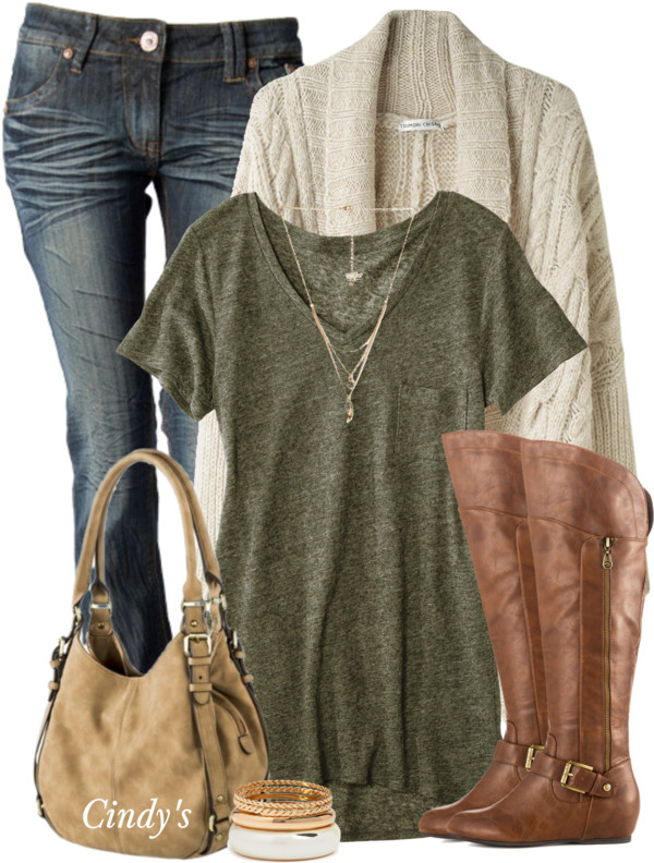simple casual fall outfit with cable oversize cardigan outfitspedia