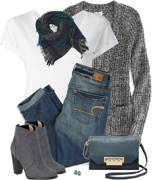 American Eagle Jeans and Ankle Boots Outfit Outfitspedia
