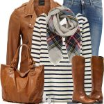 Biker Look Leather Jacket Casual Fall Outfit