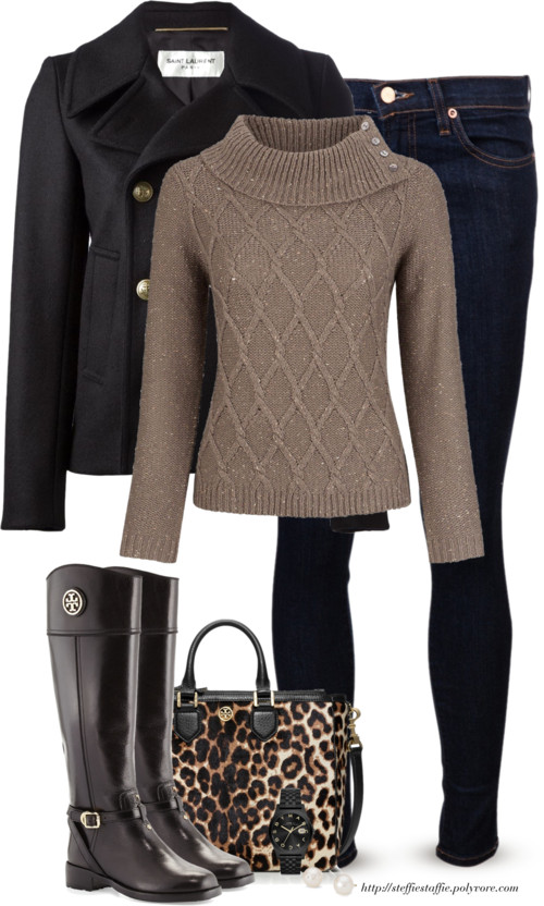 Black, Tan & Leopard Casual Fall Outfit outfitspedia