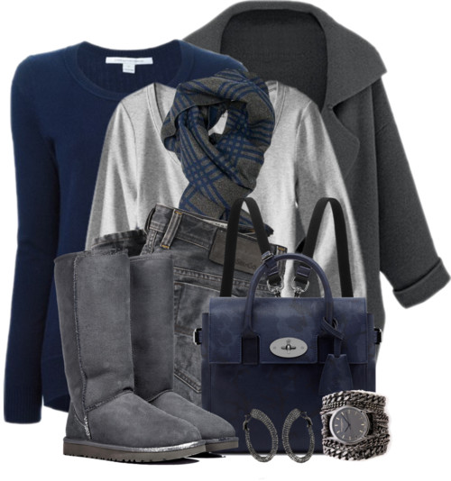 Blue Backpack Cozy Fall Winter Outfit outfitspedia