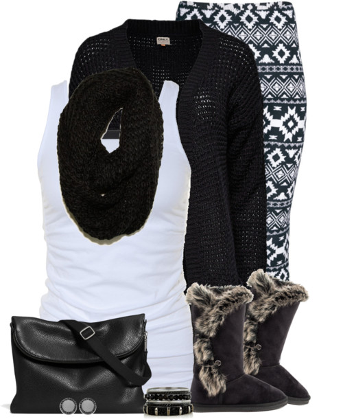 Boots, Cardigan & Leggings Fall Outfit outfitspedia