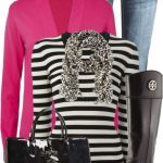 Bright Pink Cardigan Casual Fall Outfit