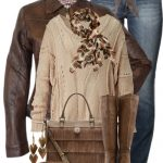 Brown Ladies Leather Jacket Outfit