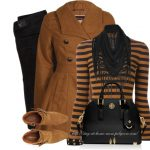 Brown Peplum Coat Fall Outfit