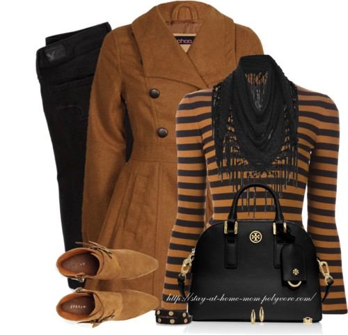 Brown Peplum Coat Fall Outfit Outfitspedia