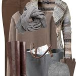 Brown and Grey Warm Fall Winter Outfit