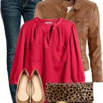Casual Outfit With H & M Leather Jacket
