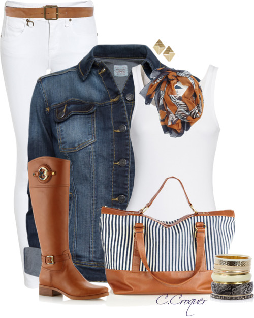 Casual Striped Bag Fall Outfit Outfitspedia