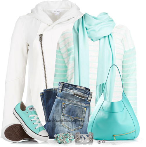Casual Tiffany Blue Sporty Outfit outfitspedia