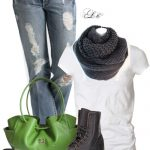 Casual With Combat Boots Outfit Idea