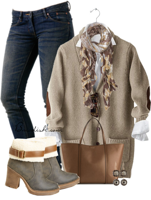Classic Long Wool Cardigan Fall Outfit outfitspedia