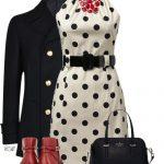 Coin Spot Belt Dress Classy Outfit