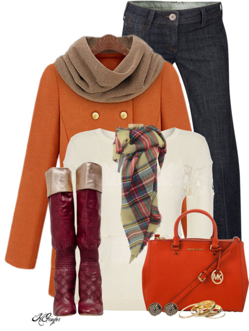 Colorful Weekend Style Winter Outfit outfitspedia