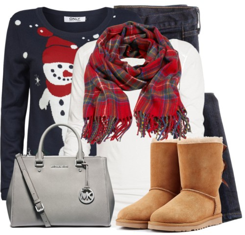 Cute Snowman Christmas Sweater Winter Outfit outfitspedia