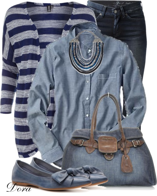 Dorothy Perkins Striped Cardigan Spring Outfit outfitspedia