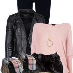 Dr Martens Fold Over Boots Pink and Black Outfit
