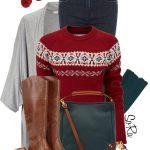 Fairisle Crew Neck Jumper Fall Outfit