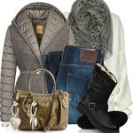 Fay Quilted Jacket Winter Outfit