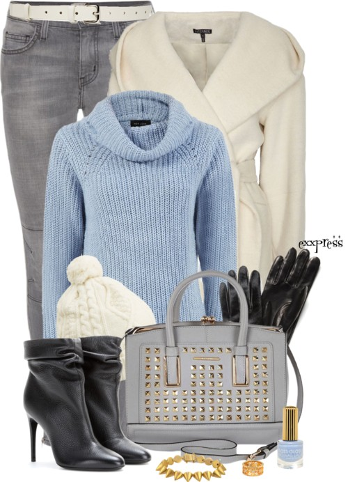 'First Sign of Cold' Fall Winter Outfit outfitspedia