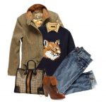 Fox Knitted-Wool Sweater Fall Outfit