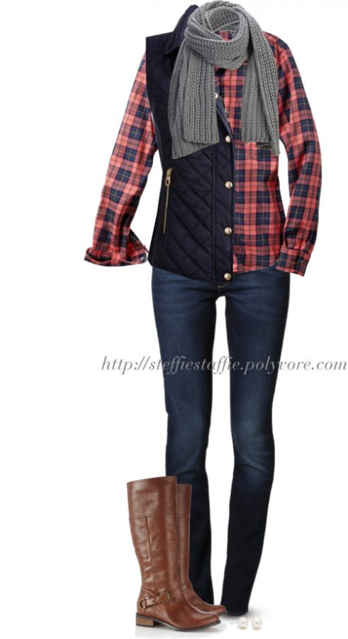 Gap plaid shirt Casual fall outfit outfitspedia
