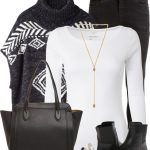 Hope Poncho Sweater Fall Outfit