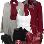 Hot Red Coat With Suede Bootine Fall Outfit