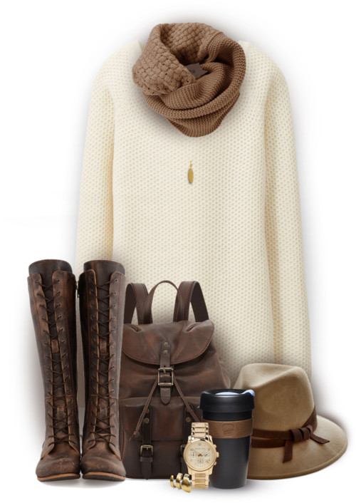 Knit Long Sleeve Dress Casual Fall Outfit outfitspedia
