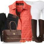L.L.BEAN Quilted Vest Fall Outfit