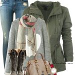 Lace Up Boots Casual Fall Outfit