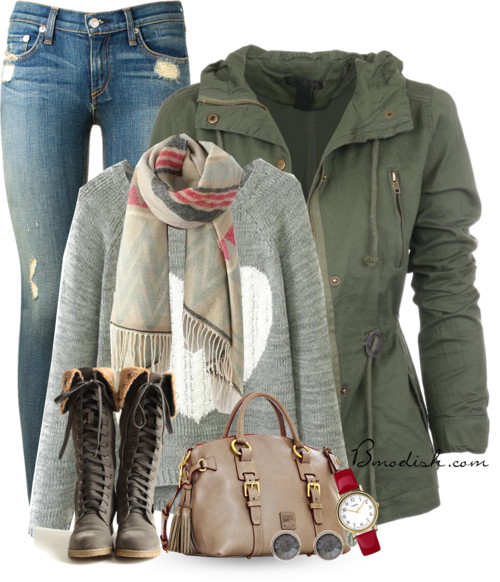 Lace Up Boots Casual Fall Outfit outfitspedia