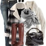 London Style Plaid Coat Fall Outfit