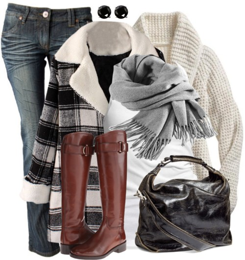 London Style Plaid Coat Fall Outfit outfitspedia