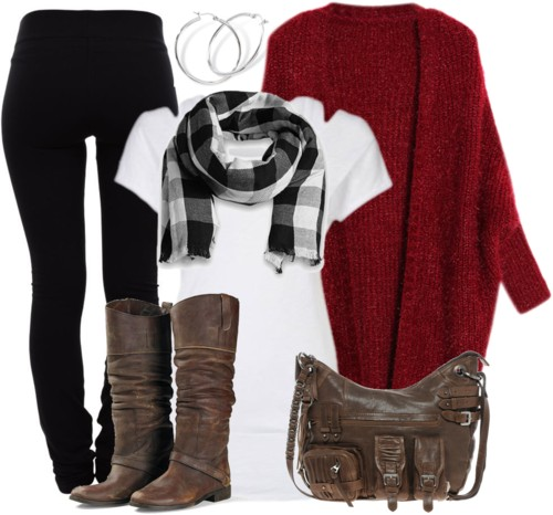 Long-sleeves Mohair Cardigan Fall Outfit outfitspedia