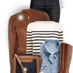 Matching Leather Boots & Leather Jacket Fall Outfit
