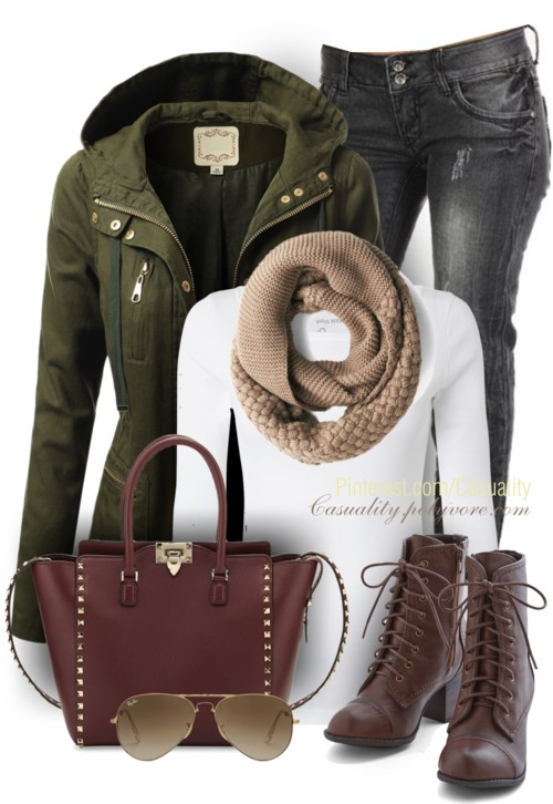 Military Anorak Jacket Casual Fall Outfit outfitspedia
