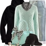 Mint Cashmere Pullover Fall Winter Outfit