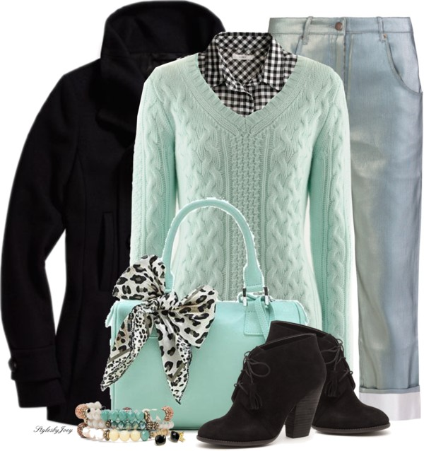 Mint Cashmere Pullover Fall Winter Outfit outfitspedia