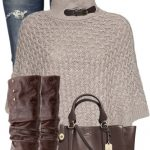 Modish Poncho Fall Outfit
