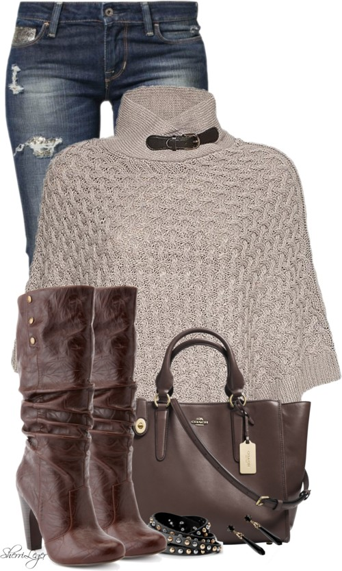 Modish Poncho Fall Outfit outfitspedia